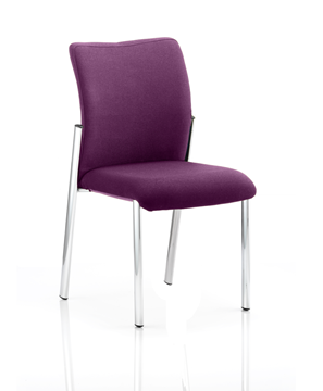 Picture of Office Chair Company Academy Bespoke Colour Fabric Back With Bespoke Colour Seat Without Arms Purple
