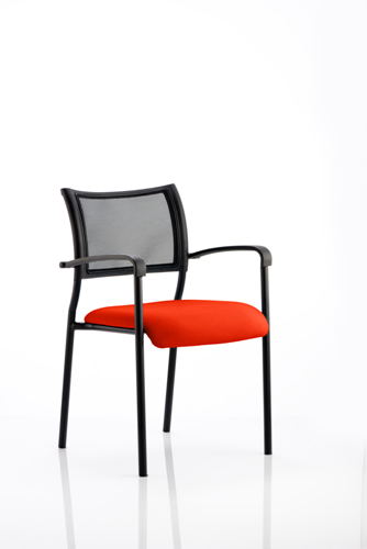 Picture of Office Chair Company Brunswick Bespoke Colour Seat Black Frame Pimento