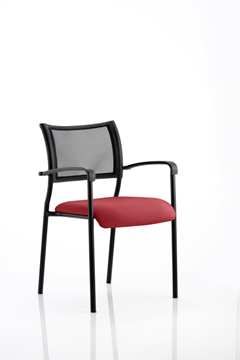 Picture of Office Chair Company Brunswick Bespoke Colour Seat Black Frame Chilli