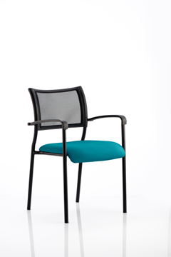 Picture of Office Chair Company Brunswick Bespoke Colour Seat Black Frame Kingfisher