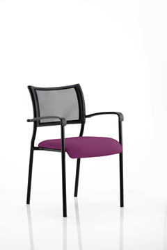 Picture of Office Chair Company Brunswick Bespoke Colour Seat Black Frame Purple