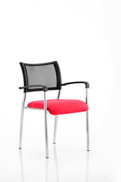 Picture of Office Chair Company Brunswick Bespoke Colour Seat Chrome Frame Cherry