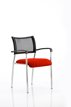 Picture of Office Chair Company Brunswick Bespoke Colour Seat Chrome Frame Pimento
