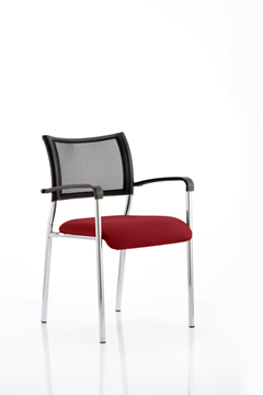 Picture of Office Chair Company Brunswick Bespoke Colour Seat Chrome Frame Chilli