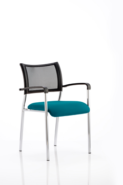 Picture of Office Chair Company Brunswick Bespoke Colour Seat Chrome Frame Kingfisher