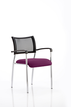 Picture of Office Chair Company Brunswick Bespoke Colour Seat Chrome Frame Purple