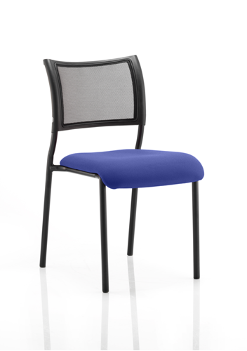 Picture of Office Chair Company Brunswick No Arm Bespoke Colour Seat Black Frame Serene