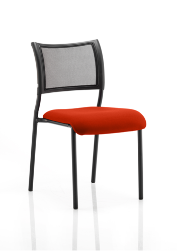 Picture of Office Chair Company Brunswick No Arm Bespoke Colour Seat Black Frame Pimento