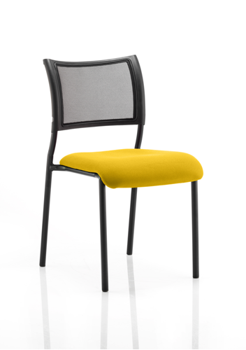 Picture of Office Chair Company Brunswick No Arm Bespoke Colour Seat Black Frame Sunset