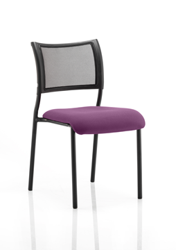 Picture of Office Chair Company Brunswick No Arm Bespoke Colour Seat Black Frame Purple