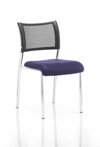 Picture of Office Chair Company Brunswick No Arm Bespoke Colour Seat Chrome Frame Serene