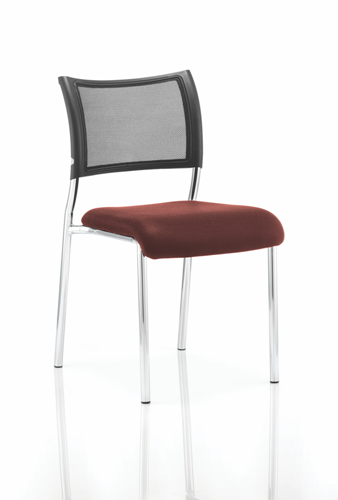 Picture of Office Chair Company Brunswick No Arm Bespoke Colour Seat Chrome Frame Chilli