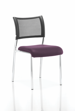 Picture of Office Chair Company Brunswick No Arm Bespoke Colour Seat Chrome Frame Purple