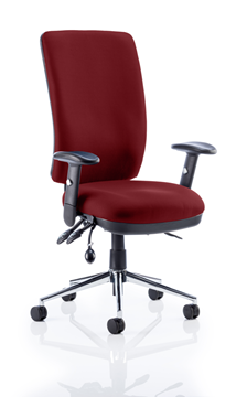 Picture of Office Chair Company Chiro High Back Bespoke Colour Chilli