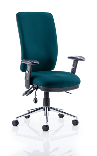Picture of Office Chair Company Chiro High Back Bespoke Colour Kingfisher