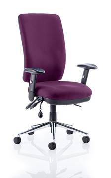 Picture of Office Chair Company Chiro High Back Bespoke Colour Purple