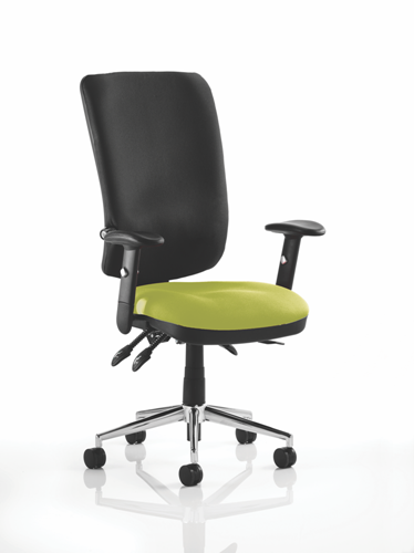 Picture of Office Chair Company Chiro High Back Bespoke Colour Seat Swizzle