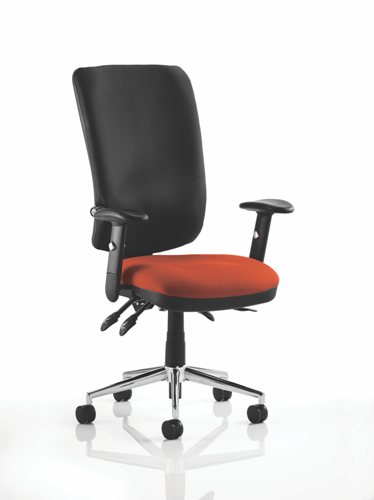 Picture of Office Chair Company Chiro High Back Bespoke Colour Seat Pimento