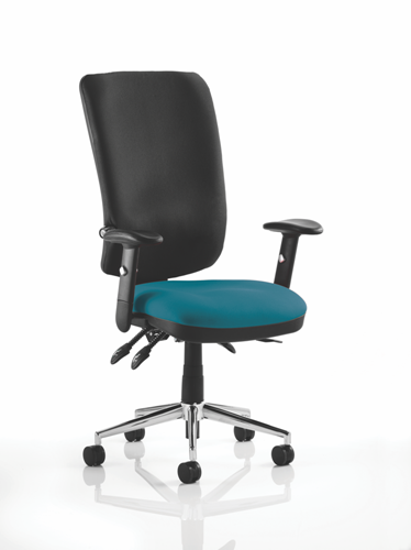 Picture of Office Chair Company Chiro High Back Bespoke Colour Seat Kingfisher
