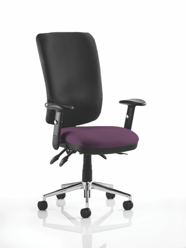 Picture of Office Chair Company Chiro High Back Bespoke Colour Seat Purple