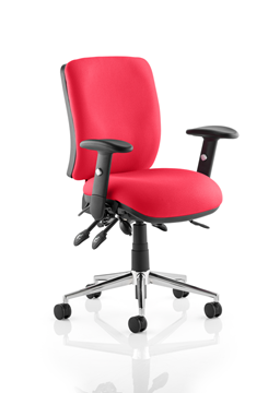 Picture of Office Chair Company Chiro Medium Back Bespoke Colour  Cherry