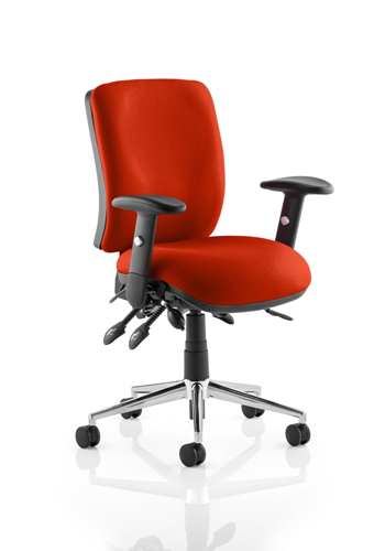 Picture of Office Chair Company Chiro Medium Back Bespoke Colour  Pimento