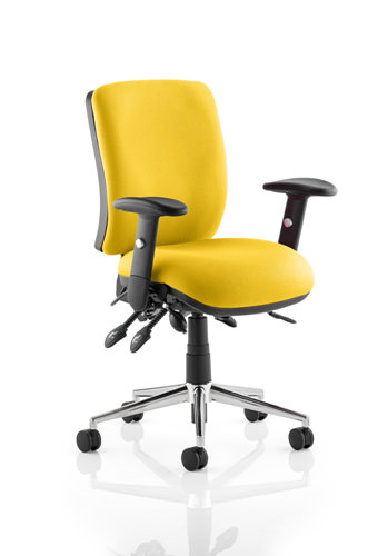 Picture of Office Chair Company Chiro Medium Back Bespoke Colour  Sunset