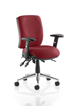 Picture of Office Chair Company Chiro Medium Back Bespoke Colour  Chilli
