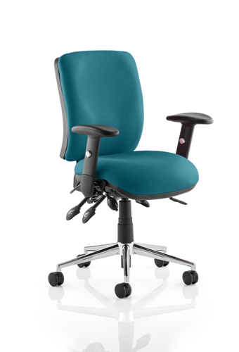 Picture of Office Chair Company Chiro Medium Back Bespoke Colour  Kingfisher