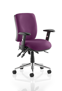 Picture of Office Chair Company Chiro Medium Back Bespoke Colour  Purple