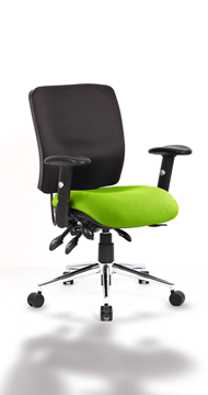Picture of Office Chair Company Chiro Medium Back Bespoke Colour Seat Swizzle