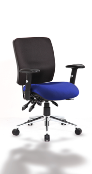 Picture of Office Chair Company Chiro Medium Back Bespoke Colour Seat Serene