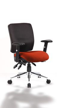 Picture of Office Chair Company Chiro Medium Back Bespoke Colour Seat Pimento
