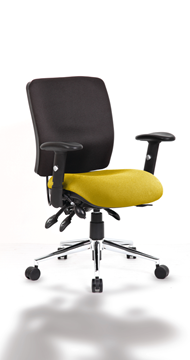 Picture of Office Chair Company Chiro Medium Back Bespoke Colour Seat Sunset