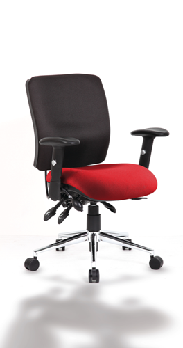 Picture of Office Chair Company Chiro Medium Back Bespoke Colour Seat Chilli