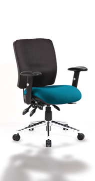 Picture of Office Chair Company Chiro Medium Back Bespoke Colour Seat Kingfisher