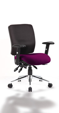 Picture of Office Chair Company Chiro Medium Back Bespoke Colour Seat Purple