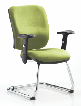 Picture of Office Chair Company Chiro Medium Cantilever Bespoke Colour Swizzle