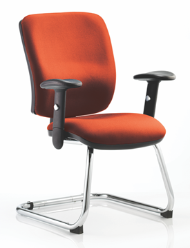 Picture of Office Chair Company Chiro Medium Cantilever Bespoke Colour Pimento