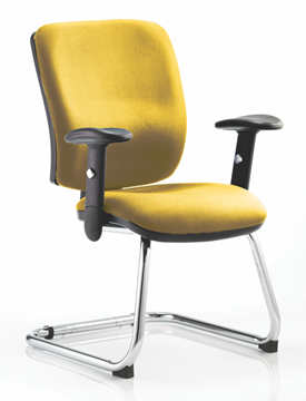 Picture of Office Chair Company Chiro Medium Cantilever Bespoke Colour Sunset