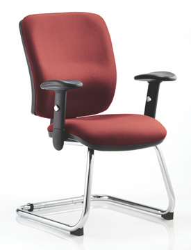 Picture of Office Chair Company Chiro Medium Cantilever Bespoke Colour Chilli