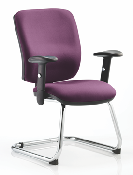 Picture of Office Chair Company Chiro Medium Cantilever Bespoke Colour Purple
