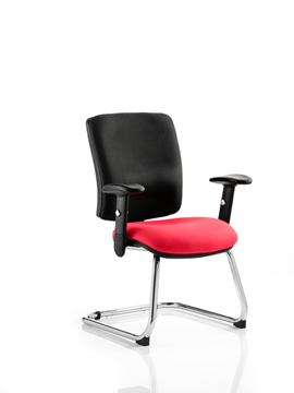 Picture of Office Chair Company Chiro Medium Cantilever Bespoke Colour Seat Cherry