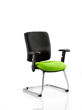 Picture of Office Chair Company Chiro Medium Cantilever Bespoke Colour Seat Swizzle