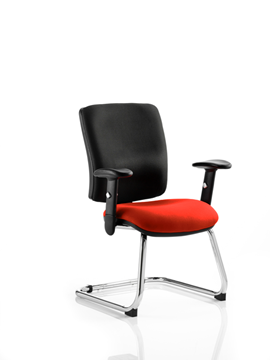 Picture of Office Chair Company Chiro Medium Cantilever Bespoke Colour Seat Pimento