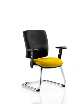 Picture of Office Chair Company Chiro Medium Cantilever Bespoke Colour Seat Sunset