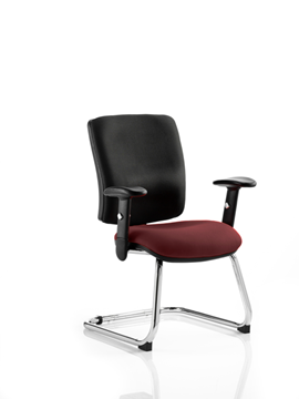 Picture of Office Chair Company Chiro Medium Cantilever Bespoke Colour Seat Chilli