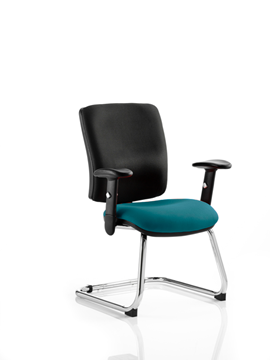 Picture of Office Chair Company Chiro Medium Cantilever Bespoke Colour Seat Kingfisher