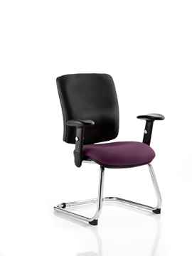 Picture of Office Chair Company Chiro Medium Cantilever Bespoke Colour Seat Purple