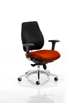 Picture of Office Chair Company Chiro Plus Bespoke Colour Seat Pimento